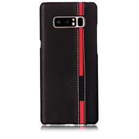 Недорогие Чехлы и кейсы для Galaxy Note 8-Кейс для Назначение SSamsung Galaxy Note 8 С узором Кейс на заднюю панель Полосы / волосы Твердый Кожа PU