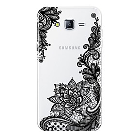 voordelige Galaxy J5(2017) Hoesjes / covers-hoesje Voor Samsung Galaxy J7 (2017) / J7 (2016) / J7 Patroon Achterkant Lace Printing Zacht TPU