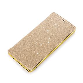Недорогие Чехлы и кейсы для Galaxy Note 8-Кейс для Назначение SSamsung Galaxy Note 8 Бумажник для карт / Покрытие / Флип Чехол Однотонный Твердый Кожа PU