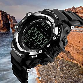 Недорогие Фирменные часы-SKMEI Муж. Спортивные часы электронные часы Кварцевый Черный 50 m Защита от влаги Bluetooth Календарь Цифровой Роскошь На каждый день Мода - Черный Серебряный Синий / Педометры / Хронометр