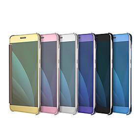 voordelige Galaxy J3(2017) Hoesjes / covers-hoesje Voor Samsung Galaxy Beplating / Spiegel / Flip Effen Hard