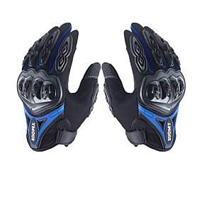 billige Motorsykkelhansker-menns hansker med mikrofiber hard knokk, vanntett pustende motorsport motorsykkel berøringsskjerm med alle fingre