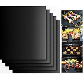 ieftine Ustensile Bucătărie & Gadget-uri-2pcs grosime ptfe gratar barbecue mat non-stick reutilizabile bbq gratar covorașe foaie gril foaie bbq linie