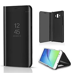 Недорогие Чехлы и кейсы для Huawei Mate-Кейс для Назначение Huawei Mate 10 со стендом / Покрытие / Зеркальная поверхность Чехол Однотонный Твердый Кожа PU