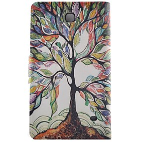 cheap Galaxy Tab 4 8.0 Cases / Covers-Case For Samsung Galaxy Tab 4 8.0 Card Holder / with Stand / Flip Full Body Cases Tree Hard PU Leather