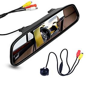 voordelige Auto-elektronica-ziqiao 4.3 inch digitale tft lcd-spiegelmonitor en auto achteruitrijcamera kleuren nachtzicht