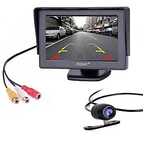 Недорогие Автоэлектроника-ziqiao 4,3-дюймовый монитор и камера заднего вида для автомобиля hd