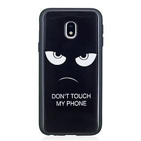 olcso Galaxy J5 tokok-Case Kompatibilitás Samsung Galaxy J5 (2017) / J5 (2016) / J5 Minta Fekete tok Szó / bölcselet Puha TPU