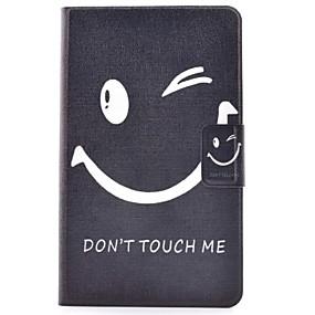 voordelige Galaxy Tab E 9.6 Hoesjes / covers-hoesje Voor Samsung Galaxy Tab E 9.6 Kaarthouder / met standaard / Flip Volledig hoesje Woord / tekst Hard PU-nahka