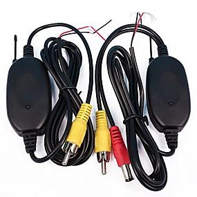 voordelige Auto-elektronica-2.4 GHz draadloze RCA AV video zender ontvanger voor achteruitrijcamera monitor auto dvd mp5 speler