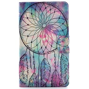 cheap Galaxy Tab 4 8.0 Cases / Covers-Case For Samsung Galaxy Tab 4 8.0 Card Holder / with Stand / Flip Full Body Cases Dream Catcher Hard PU Leather