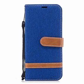 voordelige Galaxy A5(2016) Hoesjes / covers-hoesje Voor Samsung A3 (2017) / A5 (2017) / A8 2018 Portemonnee / Kaarthouder / Schokbestendig Volledig hoesje Effen Hard tekstiili