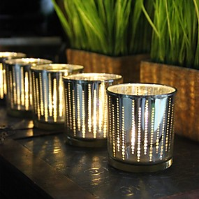abordables Home Fragrances-Style Simple / Moderne / Contemporain Verre Bougeoirs 1pc, Bougie / Bougeoir