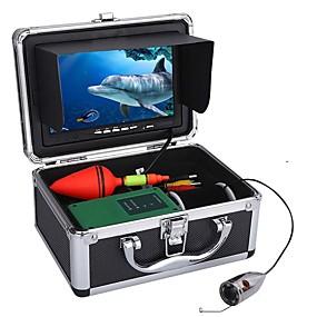 povoljno CCTV Cameras-30m 1000tvl podvodni ribolovni komplet videokamere 6 kom. LED svjetla s 7 inčnim monitorom u boji