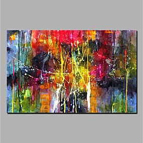 economico Pittura-dipinto a mano pittura a olio astratta dipinto a mano su tela decorazione della casa
