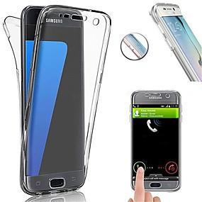 voordelige Galaxy S6 Edge Plus Hoesjes / covers-hoesje Voor Samsung Galaxy S8 Plus / S8 / S7 edge Schokbestendig / Ultradun Volledig hoesje Effen Zacht TPU