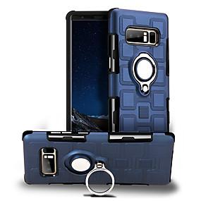 Недорогие Чехлы и кейсы для Galaxy Note 8-Кейс для Назначение SSamsung Galaxy Note 8 Поворот на 360° / Защита от удара / Кольца-держатели Кейс на заднюю панель Однотонный Твердый ПК