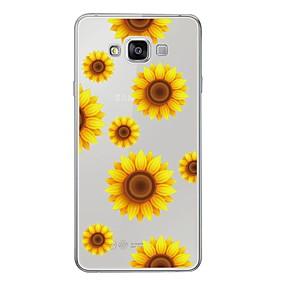 voordelige Galaxy A7(2016) Hoesjes / covers-hoesje Voor Samsung Galaxy A3 (2017) / A5 (2017) / A7 (2017) Patroon Achterkant Bloem Zacht TPU