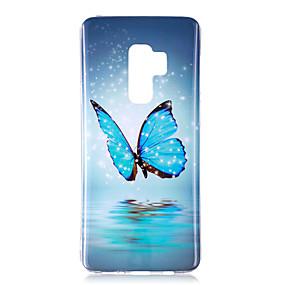 voordelige Galaxy S7 Edge Hoesjes / covers-hoesje Voor Samsung Galaxy S9 / S9 Plus / S8 Plus Glow in the dark / IMD / Patroon Achterkant Vlinder / Schijnen Zacht TPU