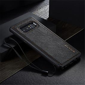 Недорогие Чехлы и кейсы для Galaxy Note 8-Кейс для Назначение SSamsung Galaxy Note 8 Защита от удара / Ультратонкий / Своими руками Кейс на заднюю панель Однотонный Твердый Кожа PU