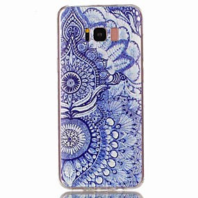 voordelige Galaxy S6 Edge Plus Hoesjes / covers-hoesje Voor Samsung Galaxy S8 Plus / S8 / S7 edge Patroon Achterkant Bloem Zacht TPU