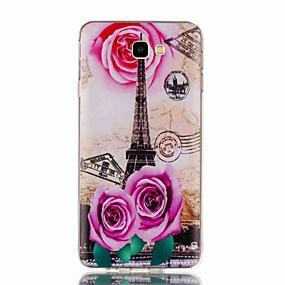 voordelige Galaxy J5(2017) Hoesjes / covers-hoesje Voor Samsung Galaxy J7 Prime / J7 (2017) / J7 (2016) Patroon Achterkant Eiffeltoren Zacht TPU