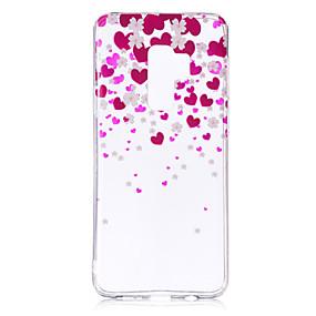 voordelige Galaxy S7 Edge Hoesjes / covers-hoesje Voor Samsung Galaxy S9 / S9 Plus / S8 Plus IMD / Patroon / transparante Body Achterkant Hart Zacht TPU