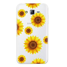 voordelige Galaxy J7 Hoesjes / covers-hoesje Voor Samsung Galaxy J7 (2016) / J7 / J5 (2016) Patroon Achterkant Bloem Zacht TPU