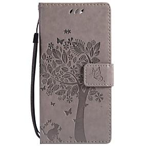 baratos Sony-estojo para sonyxperia z5 premium / sonyxperia z5 / z5 mini carteira / porta-cartões / com suporte estojos de corpo inteiro couro duro árvore