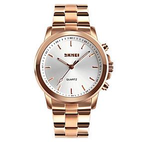 Недорогие Фирменные часы-SKMEI Муж. Спортивные часы Модные часы Армейские часы Японский Кварцевый Нержавеющая сталь Черный / Серебристый металл / Золотистый 50 m Защита от влаги Bluetooth Пульт управления Аналоговый