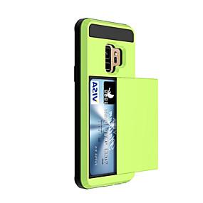 economico Acquista per Modello di telefono-Custodia Per Samsung Galaxy S9 / S9 Plus / S8 Plus Porta-carte di credito Per retro Tinta unita Resistente Plastica