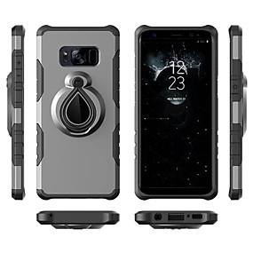 voordelige Galaxy S7 Hoesjes / covers-hoesje Voor Samsung Galaxy S9 / S9 Plus / S8 Plus Schokbestendig / Ringhouder Achterkant Schild Zacht TPU