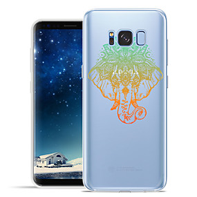 voordelige Galaxy S6 Edge Plus Hoesjes / covers-hoesje Voor Samsung Galaxy S8 Plus / S8 / S7 edge Patroon Achterkant dier / Olifant Zacht TPU