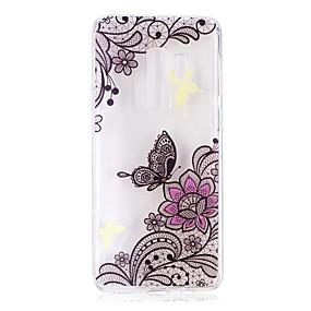 voordelige Galaxy S7 Edge Hoesjes / covers-hoesje Voor Samsung Galaxy S9 / S9 Plus / S8 Plus Patroon Achterkant Vlinder / Lace Printing Zacht TPU