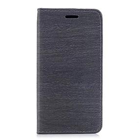 voordelige Galaxy J5(2017) Hoesjes / covers-hoesje Voor Samsung Galaxy J7 (2017) / J7 (2016) / J5 (2017) Kaarthouder / met standaard Volledig hoesje Houtnerf Hard PU-nahka