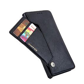 voordelige Galaxy S7 Hoesjes / covers-hoesje Voor Samsung Galaxy S9 / S9 Plus / S8 Plus Portemonnee / Kaarthouder / Flip Volledig hoesje Effen Hard PU-nahka