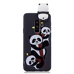 voordelige Galaxy S7 Hoesjes / covers-hoesje Voor Samsung Galaxy S9 / S9 Plus / S8 Plus Schokbestendig / Patroon / DHZ Achterkant Cartoon / 3D Cartoon / Panda Zacht TPU