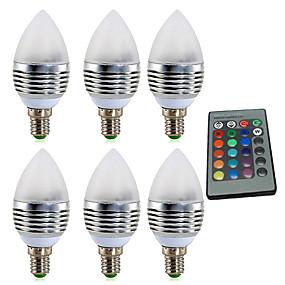 ieftine Becuri LED Lumânare-ywxlight® e14 3w rgb 4w 300-400lm led 16 culoare schimbă lumina lumânare bec lumina reflectoarelor ac85-265v 24 chei ir telecomandă ac 85-265v