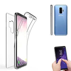 voordelige Galaxy S7 Edge Hoesjes / covers-hoesje Voor Samsung Galaxy S9 / S9 Plus / S8 Plus Doorzichtig Volledig hoesje Effen Zacht Siliconen