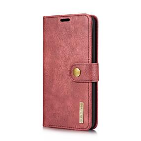 cheap LG-DG.MING Case For LG V30 / V20 Card Holder / with Stand / Flip Full Body Cases Solid Colored Hard Genuine Leather for LG V30 / LG V20
