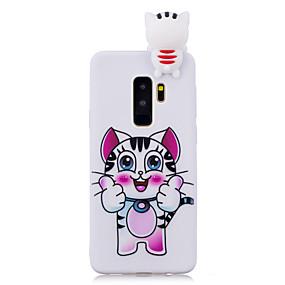 voordelige Galaxy S7 Hoesjes / covers-hoesje Voor Samsung Galaxy S9 / S9 Plus / S8 Plus Patroon Achterkant Kat Zacht TPU