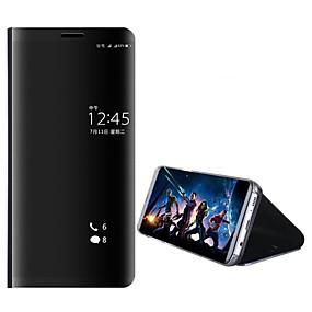 Недорогие Чехлы и кейсы для Huawei Mate-Кейс для Назначение Huawei Mate 10 / Mate 10 pro / Mate 10 lite со стендом / Покрытие / Зеркальная поверхность Чехол Однотонный Твердый ПК / Mate 9 Pro