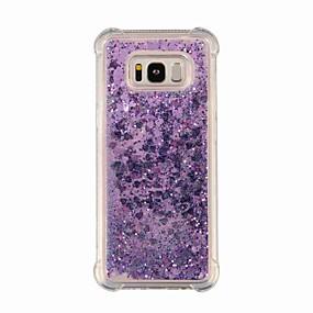 voordelige Galaxy S7 Hoesjes / covers-hoesje Voor Samsung Galaxy S9 / S9 Plus / S8 Plus Schokbestendig / Glitterglans Achterkant Glitterglans / Kleurgradatie Zacht TPU