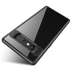 Недорогие Чехлы и кейсы для Galaxy Note 8-Кейс для Назначение SSamsung Galaxy Note 8 Защита от удара / Полупрозрачный Кейс на заднюю панель Однотонный Твердый ПК