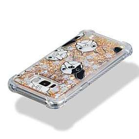 voordelige Galaxy S7 Edge Hoesjes / covers-hoesje Voor Samsung Galaxy S8 Plus / S8 / S7 edge Schokbestendig / Stromende vloeistof / Patroon Achterkant Hond / Glitterglans Zacht TPU