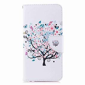 Недорогие Чехлы и кейсы для Huawei Mate-Кейс для Назначение Huawei Mate 10 / Mate 10 lite / Huawei Mate 8 Кошелек / Бумажник для карт / со стендом Чехол дерево / Цветы Твердый Кожа PU