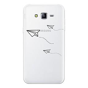 olcso Galaxy J5 tokok-Case Kompatibilitás Samsung Galaxy J7 (2017) / J7 (2016) / J7 Minta Fekete tok Rajzfilm Puha TPU
