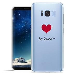 voordelige Galaxy S7 Edge Hoesjes / covers-hoesje Voor Samsung Galaxy S8 Plus / S8 / S7 edge Patroon Achterkant Woord / tekst / Hart Zacht TPU