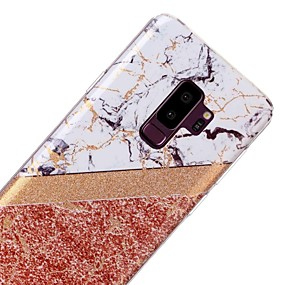 voordelige Galaxy S7 Edge Hoesjes / covers-hoesje Voor Samsung Galaxy S9 / S9 Plus / S8 Plus IMD / Patroon Achterkant Glitterglans / Marmer Zacht TPU