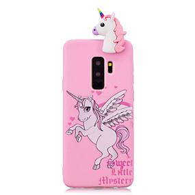 voordelige Galaxy S7 Hoesjes / covers-hoesje Voor Samsung Galaxy S9 / S9 Plus / S8 Plus Schokbestendig / Patroon / DHZ Achterkant Eenhoorn / Cartoon / 3D Cartoon Zacht TPU